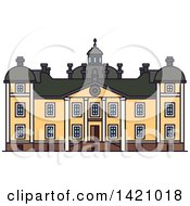 Clipart Of A Sweden Landmark Stromsholm Castle Royalty Free Vector Illustration by Vector Tradition SM