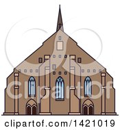 Clipart Of A Sweden Landmark Vadstena Abbey Royalty Free Vector Illustration by Vector Tradition SM