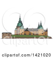 Clipart Of A Sweden Landmark Kalmar Royalty Free Vector Illustration by Vector Tradition SM