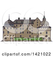 Clipart Of A Sweden Landmark Orebro Royalty Free Vector Illustration by Vector Tradition SM
