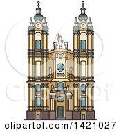 Clipart Of A Austria Landmark Melk Abbey Royalty Free Vector Illustration