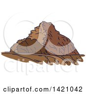 Clipart Of A United Arab Emirates Landmark Jebel Hafeet Royalty Free Vector Illustration