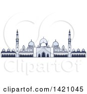 Clipart Of A United Arab Emirates Landmark Sheikh Zayed Mosque Royalty Free Vector Illustration