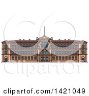 Clipart Of A Finland Landmark Ateneum Museum Royalty Free Vector Illustration