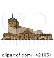 Clipart Of A Finland Landmark Suomenlinna Sveaborg Royalty Free Vector Illustration by Vector Tradition SM