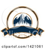 Clipart Of A Mountain And Arrow Hunting Design Royalty Free Vector Illustration by Seamartini Graphics