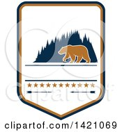 Clipart Of A Bear Hunting Design Royalty Free Vector Illustration by Seamartini Graphics