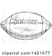 Black And White Sketched American Football