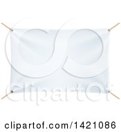 Clipart Of A Blank White Banner Royalty Free Vector Illustration
