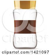 Clipart Of A 3d Empty Glass Jar Royalty Free Vector Illustration by Vector Tradition SM