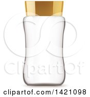 Clipart Of A 3d Empty Glass Jar Royalty Free Vector Illustration