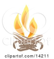 Burning Campfire Clipart Illustration by Rasmussen Images #COLLC14211-0030