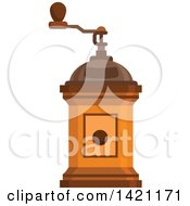 Clipart Of A Vintage Coffee Grinder Royalty Free Vector Illustration