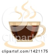 Hot Steamy Cup Of Coffee