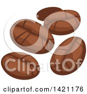 Clipart Of Coffee Beans Royalty Free Vector Illustration