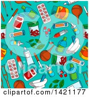 Seamless Pattern Background Of Medicine