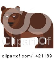 Clipart Of A Cartoon Bear Royalty Free Vector Illustration by Vector Tradition SM