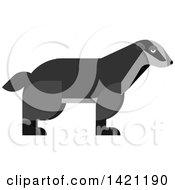 Clipart Of A Cartoon Badger Royalty Free Vector Illustration