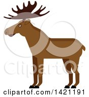 Clipart Of A Cartoon Elk Royalty Free Vector Illustration by Vector Tradition SM