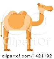 Clipart Of A Cartoon Camel Royalty Free Vector Illustration