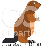 Clipart Of A Cartoon Beaver Royalty Free Vector Illustration by Vector Tradition SM
