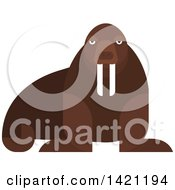 Clipart Of A Cartoon Walrus Royalty Free Vector Illustration