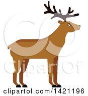 Clipart Of A Cartoon Buck Deer Royalty Free Vector Illustration by Vector Tradition SM