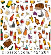 Seamless Pattern Background Of Alcohol