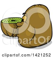 Cartoon Kiwi Fruit Character