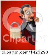 Clipart Of A 3d Dracula Vampire Royalty Free Illustration