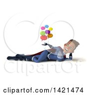 Clipart Of A 3d Young Black Female Super Hero In A Dark Blue Suit On A White Background Royalty Free Illustration