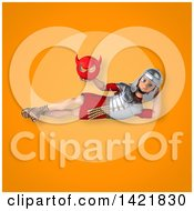 Clipart Of A 3d Young Male Roman Legionary Soldier Royalty Free Illustration