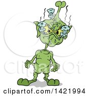 Clipart Of A Cartoon Mad Martian Royalty Free Vector Illustration by dero