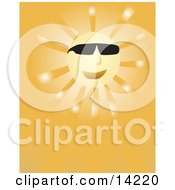 Happy Sun Wearing Sunglasses Clipart Illustration