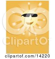 Happy Sun Wearing Sunglasses