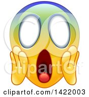Cartoon Colorful Screaming Emoji Face