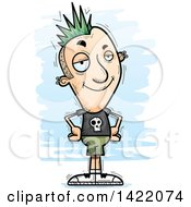 Clipart Of A Cartoon Doodled Confident Punk Dude With Hands On His Hips Royalty Free Vector Illustration by Cory Thoman