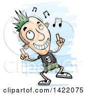 Clipart Of A Cartoon Doodled Punk Dude Dancing To Music Royalty Free Vector Illustration by Cory Thoman