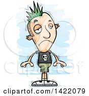 Clipart Of A Cartoon Doodled Depressed Punk Dude Royalty Free Vector Illustration by Cory Thoman