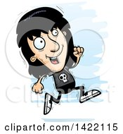 Clipart Of A Cartoon Doodled Metal Head Guy Running Royalty Free Vector Illustration