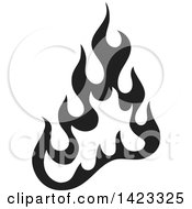 Clipart Of A Black Fire Flame Design Element Royalty Free Vector Illustration by Any Vector