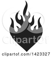 Clipart Of A Black Fire Flame Design Element Royalty Free Vector Illustration