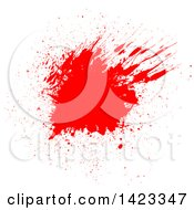Clipart Of A Red Blood Splatter On White Royalty Free Vector Illustration by KJ Pargeter