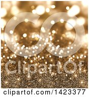 Clipart Of A Gold Glitter Background Royalty Free Illustration