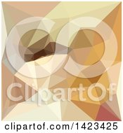 Clipart Of A Low Poly Abstract Geometric Background In Corn Yellow Beige Royalty Free Vector Illustration