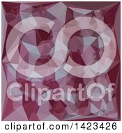 Clipart Of A Low Poly Abstract Geometric Background In Cornell Red Royalty Free Vector Illustration