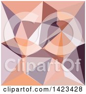 Clipart Of A Low Poly Abstract Geometric Background In Almond Beige Royalty Free Vector Illustration