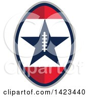 Clipart Of A Retro Super Bowl 51 Football Design With A Star Royalty Free Vector Illustration