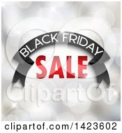 Clipart Of A Black Friday Sale Retail Design Banner Over Bokeh Flares Royalty Free Vector Illustration by KJ Pargeter