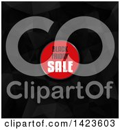 Clipart Of A Black Friday Sale Retail Design Label Over Low Poly Royalty Free Vector Illustration by KJ Pargeter